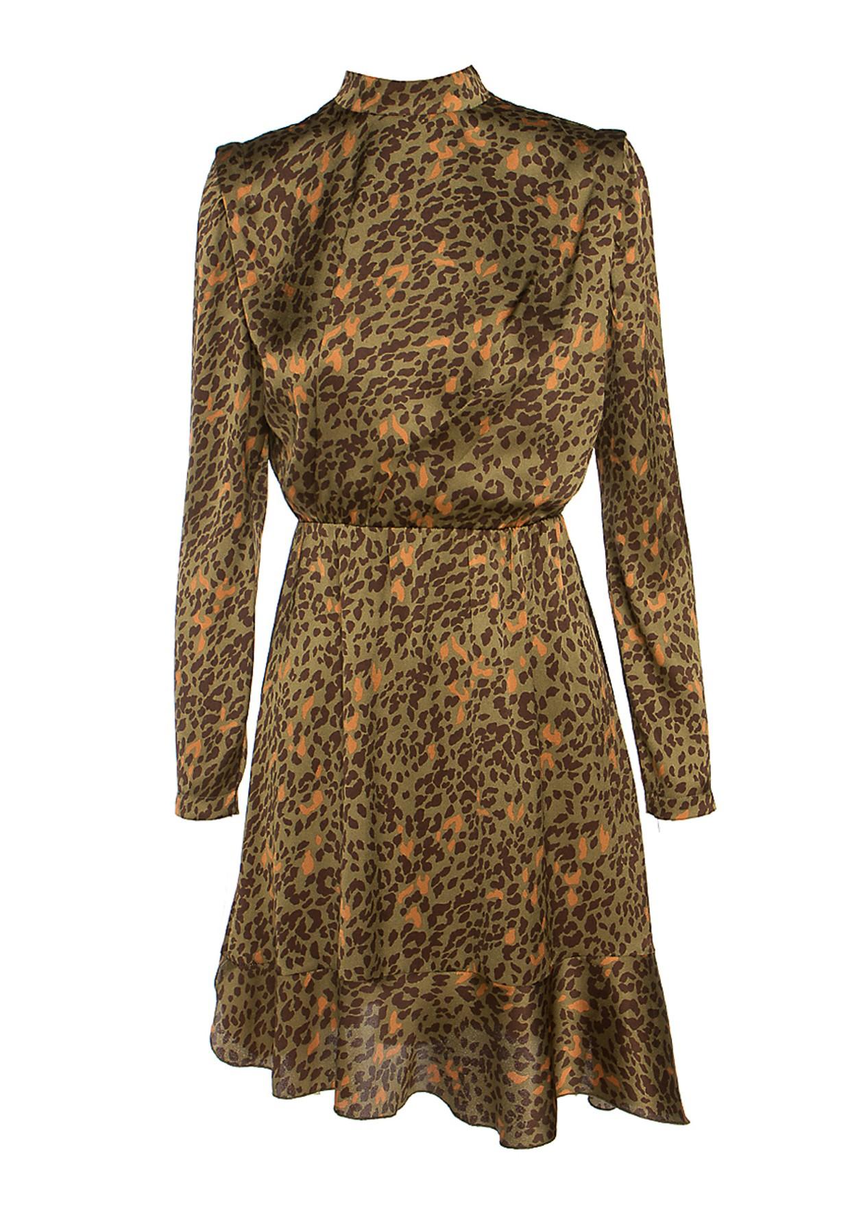 Animal print ζιβάγκο φόρεμα