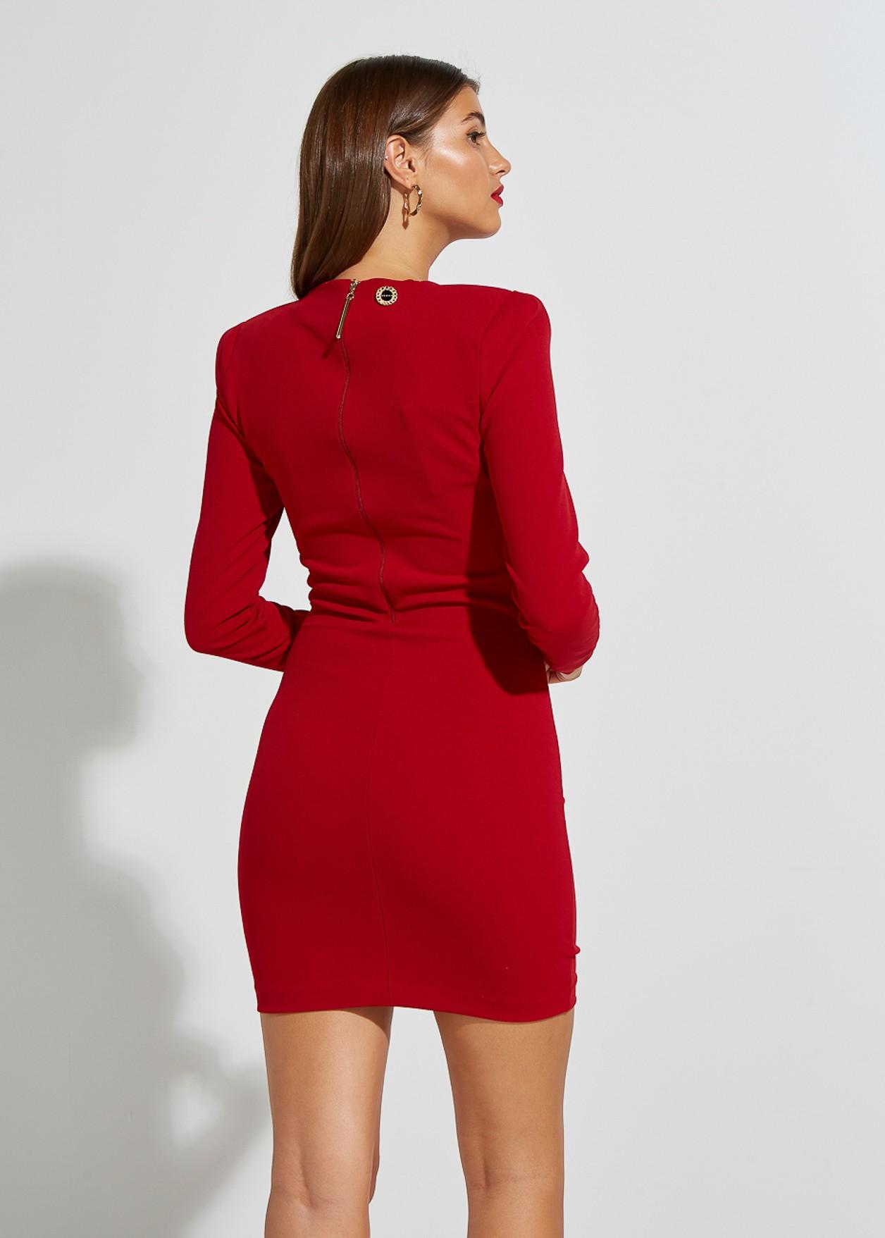 V-neckline mini dress