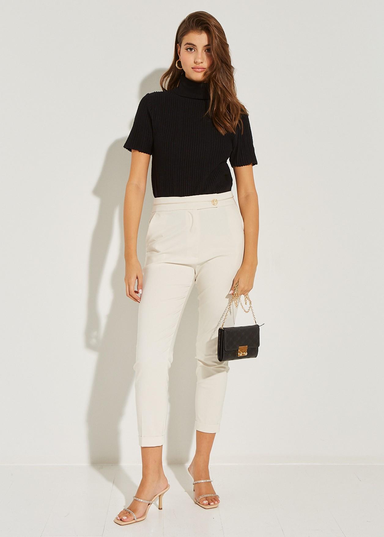 Παντελόνι baggy με ρεβέρ