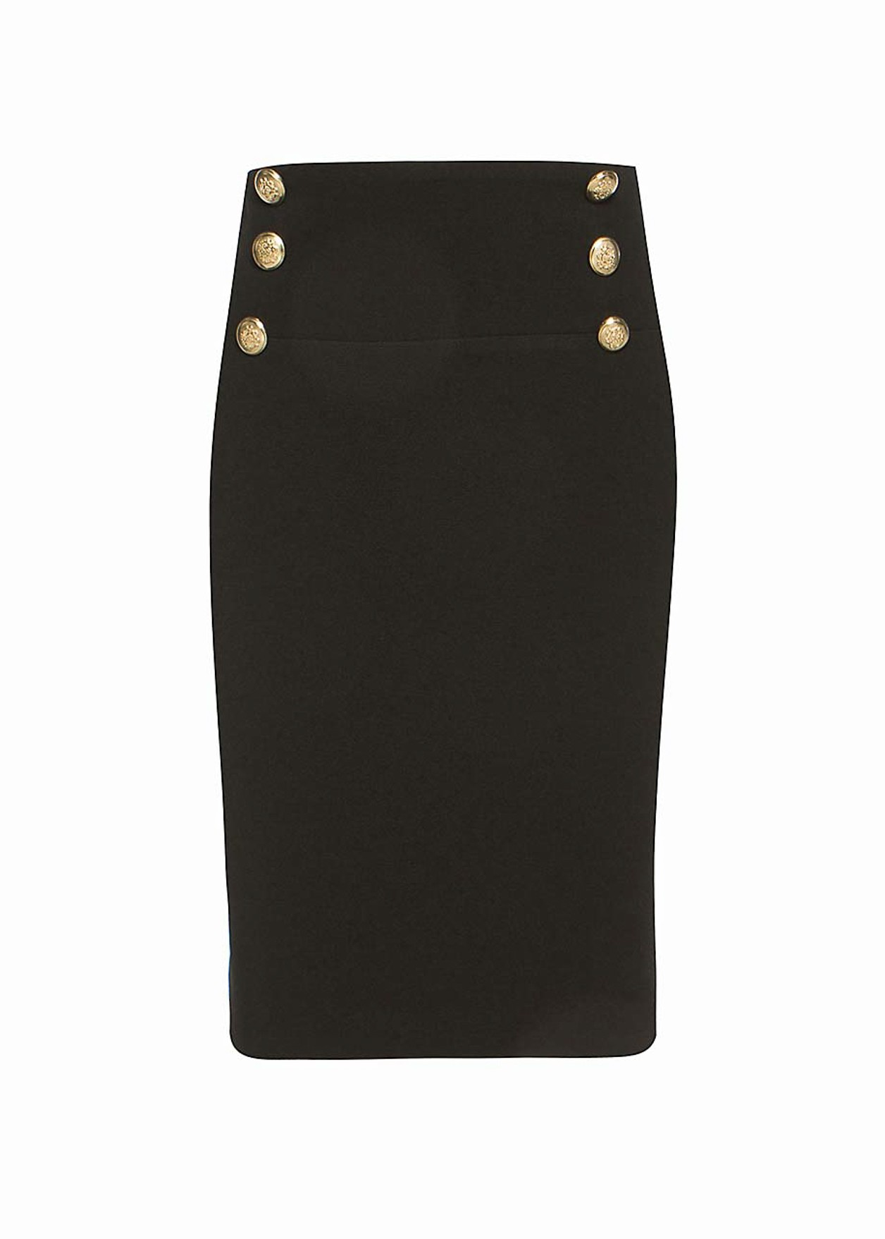 Skirt with decorative buttons